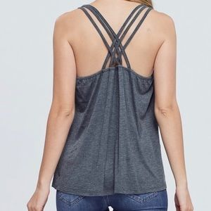 Gray Tank Top Braided